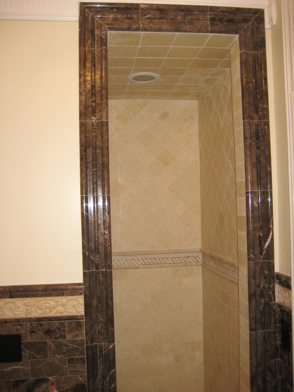 custom shower door frame ... & Tile and Stone Contractor Services